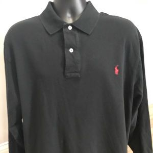 Polo Ralph Lauren Long Sleeve Rugby Black 1XB Big